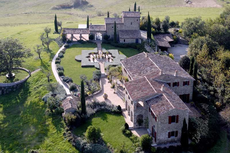 adelaparvu.com despre Villa Belvedere, domeniul Castello di Reschio, design Benedikt Bolza (1)