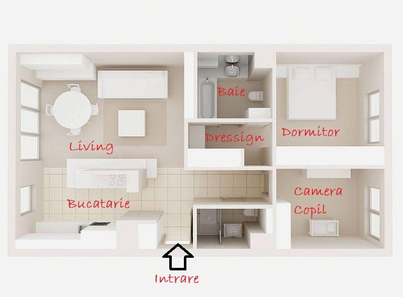 adelaparvu.com despre amenajare apartament de 3 camere, designer Agnieszka Cholewa, Desi Studio, Foto Radoslaw Wojnar(1)