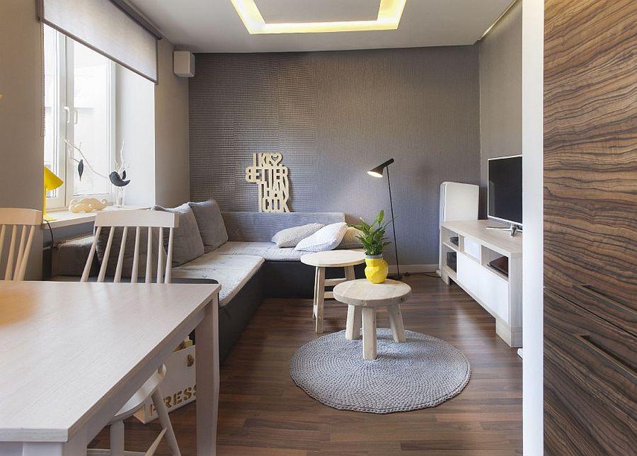 adelaparvu.com despre apartament 2 camere 48 mp cu reproduceri dupa Klimt, design Pink Pug Design, Polonia (10)