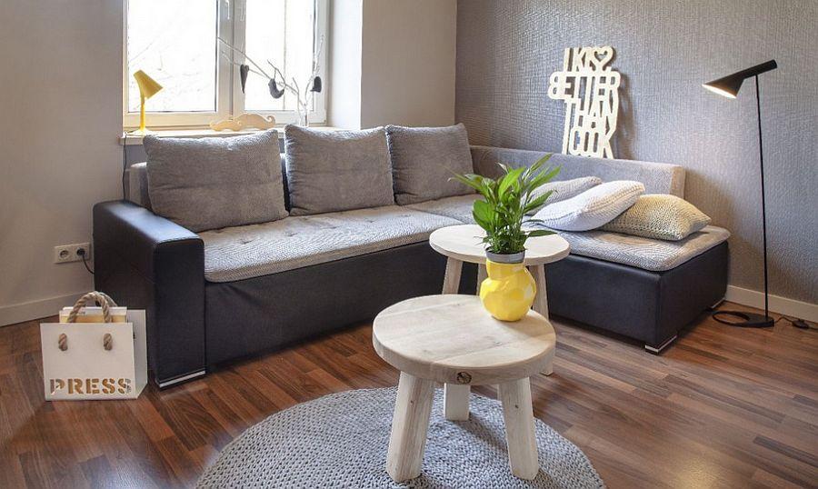 adelaparvu.com despre apartament 2 camere 48 mp cu reproduceri dupa Klimt, design Pink Pug Design, Polonia (11)