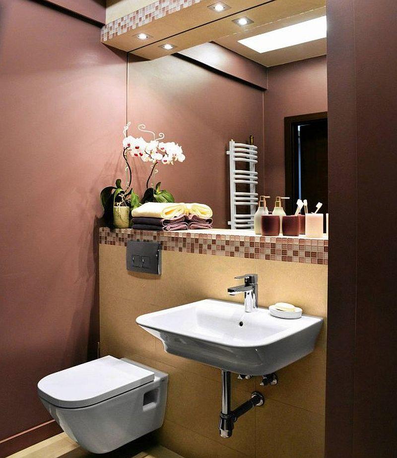 adelaparvu.com despre apartament 2 camere 48 mp cu reproduceri dupa Klimt, design Pink Pug Design, Polonia (13)