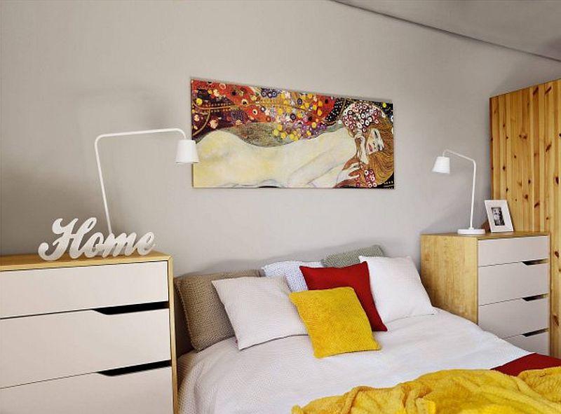 adelaparvu.com despre apartament 2 camere 48 mp cu reproduceri dupa Klimt, design Pink Pug Design, Polonia (14)