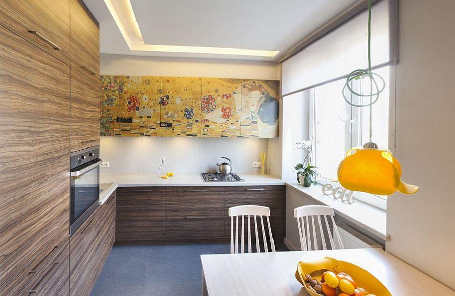 adelaparvu.com despre apartament 2 camere 48 mp cu reproduceri dupa Klimt, design Pink Pug Design, Polonia (5)