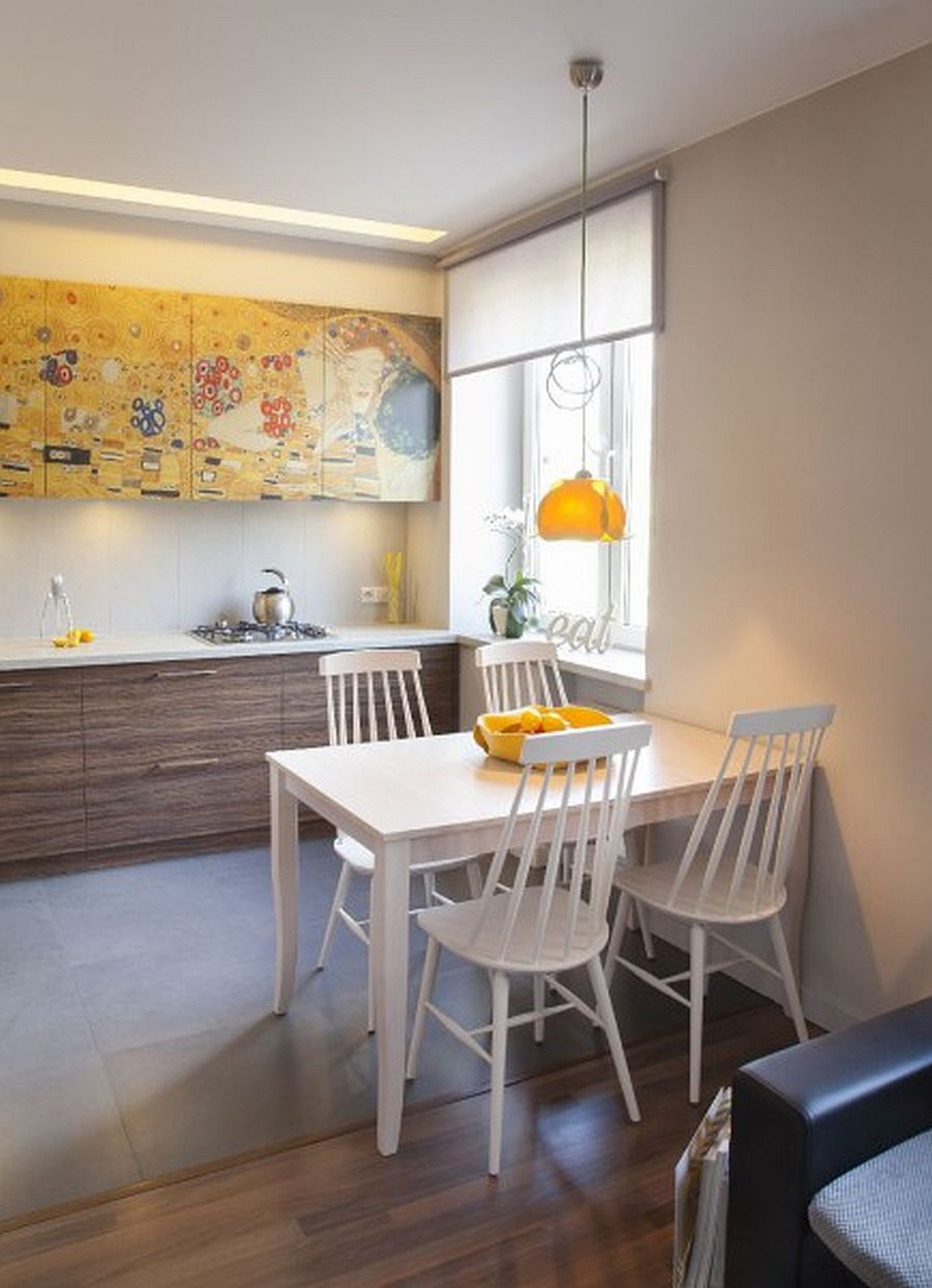 adelaparvu.com despre apartament 2 camere 48 mp cu reproduceri dupa Klimt, design Pink Pug Design, Polonia (7)