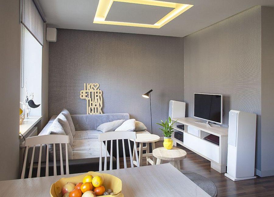 adelaparvu.com despre apartament 2 camere 48 mp cu reproduceri dupa Klimt, design Pink Pug Design, Polonia (9)