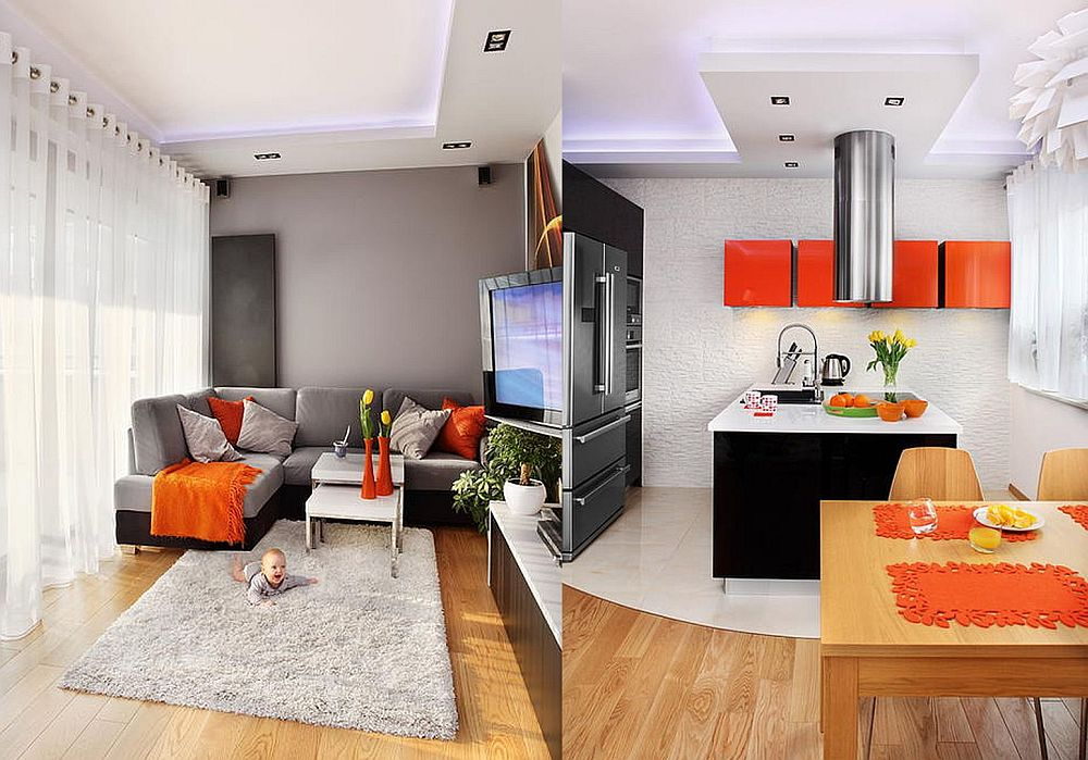 adelaparvu.com despre apartament 3 camere de 60 mp, designer Alexandra Strawaba, Foto Monika Filipiuk