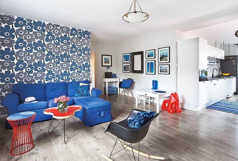 adelaparvu.com despre apartament in stil scandinav, decor in alb si albastru, Foto Mariusz Bykowski (1)