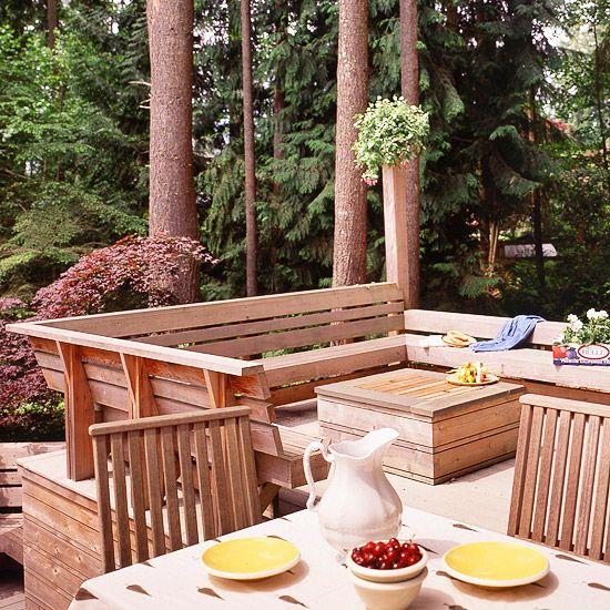 adelaparvu.com despre banci si constructii de lemn in gradina, Foto BHG 14
