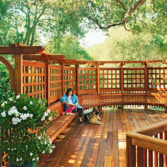 adelaparvu.com despre banci si constructii de lemn in gradina, Foto BHG 15