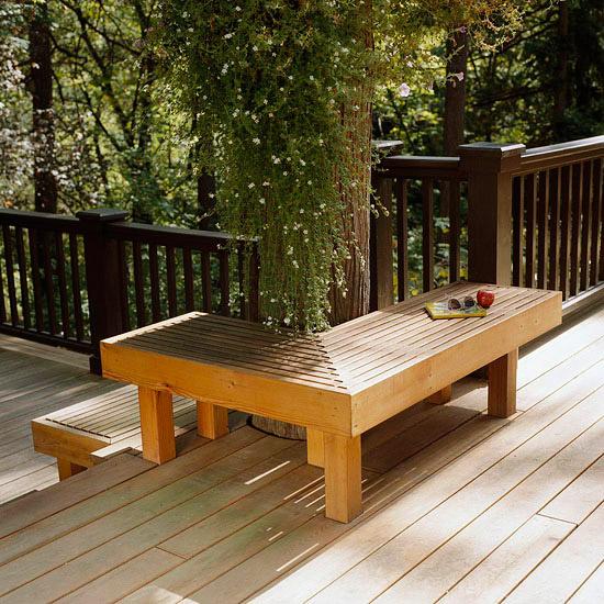 adelaparvu.com despre banci si constructii de lemn in gradina, Foto BHG 2
