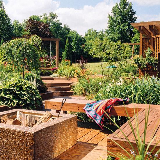 adelaparvu.com despre banci si constructii de lemn in gradina, Foto BHG 9