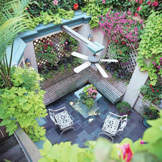 adelaparvu.com despre banci si constructii de lemn in gradina, Foto BHG