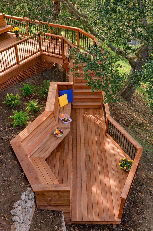 adelaparvu.com despre banci si constructii de lemn in gradina, Foto Bonny Weil General Contractor 2