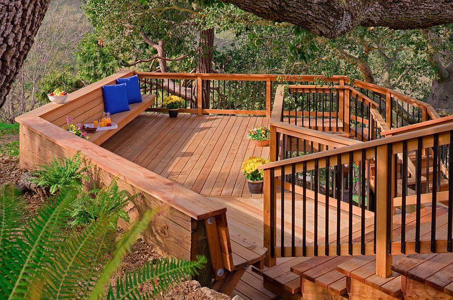 adelaparvu.com despre banci si constructii de lemn in gradina, Foto Bonny Weil General Contractor 3