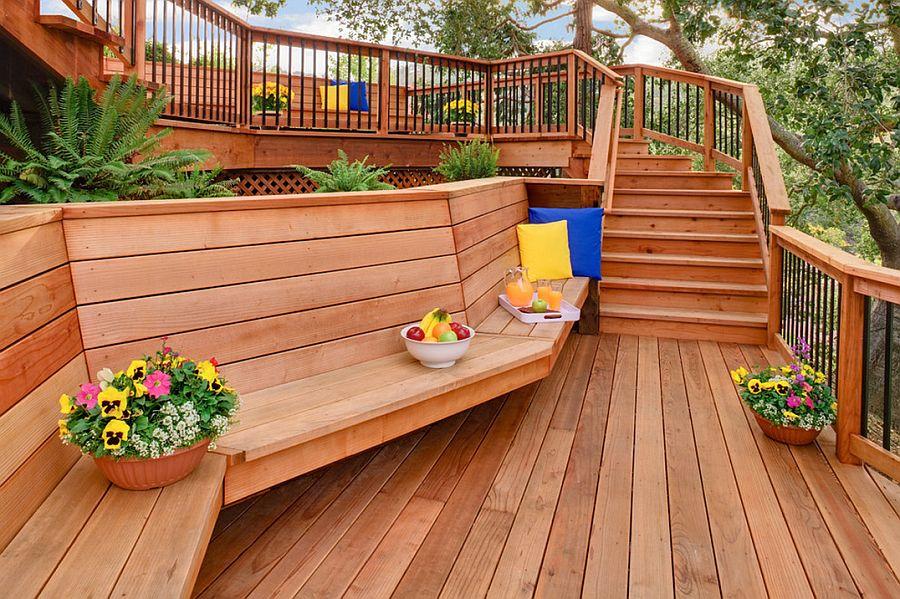 adelaparvu.com despre banci si constructii de lemn in gradina, Foto Bonny Weil General Contractor