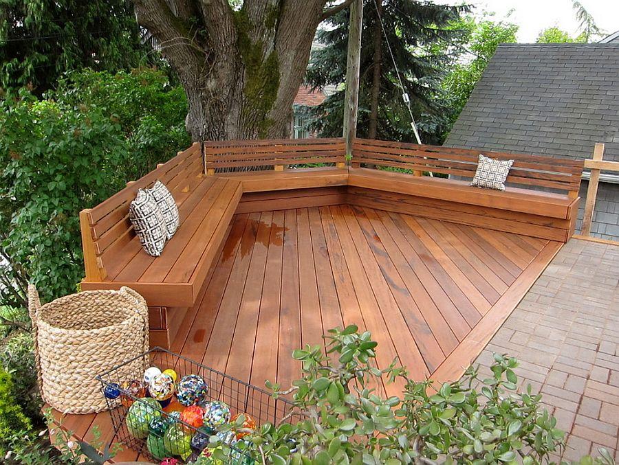 adelaparvu.com despre banci si constructii de lemn in gradina, Foto Cedarcraft construction LLC