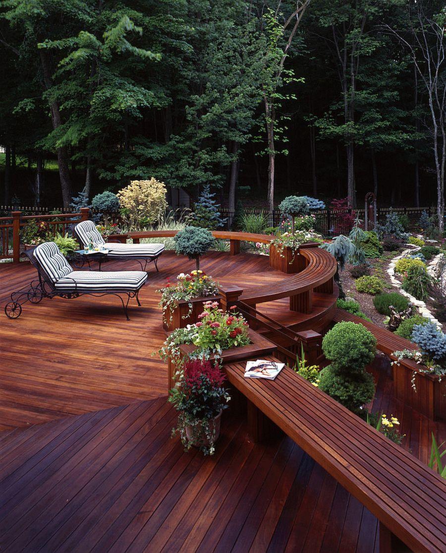 adelaparvu.com despre banci si constructii de lemn in gradina, Foto Decks by Kiefer LLC