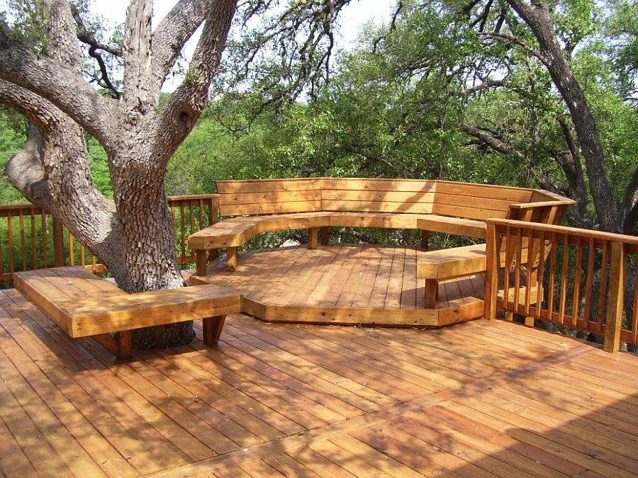 adelaparvu.com despre banci si constructii de lemn in gradina, Foto JRG custom decks