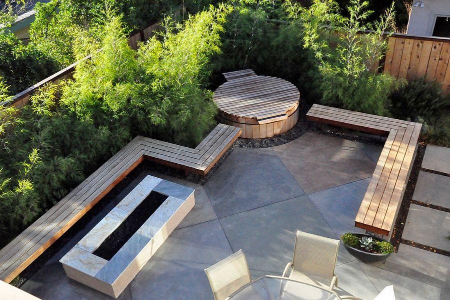 adelaparvu.com despre banci si constructii de lemn in gradina, Foto Jeffrey Gordon Smith Landscape Architecture