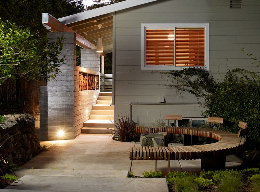 adelaparvu.com despre banci si constructii de lemn in gradina, Foto Michael Tauber Architecture