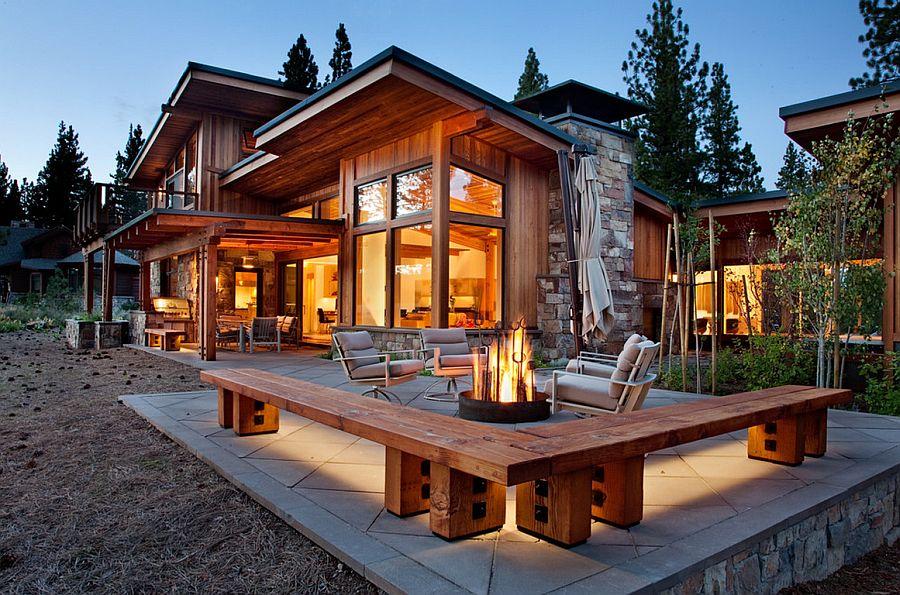 adelaparvu.com despre banci si constructii de lemn in gradina, Foto Ryan Group Architects