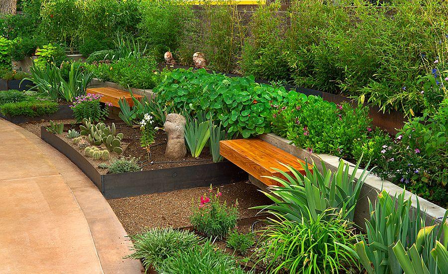 adelaparvu.com despre banci si constructii de lemn in gradina, Foto Strell Design
