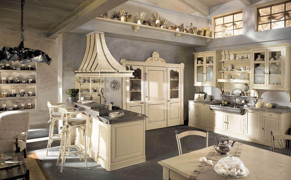adelaparvu.com despre bucatarii rustice, bucatarii country style, model Dhialma, Marchi Cucine (1)