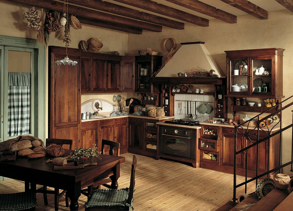 adelaparvu.com despre bucatarii rustice, bucatarii country style, model Doralice, Marchi Cucine (3)