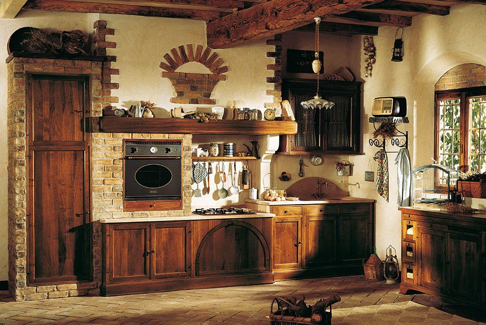 adelaparvu.com despre bucatarii rustice, bucatarii country style, model Doralice, Marchi Cucine (4)