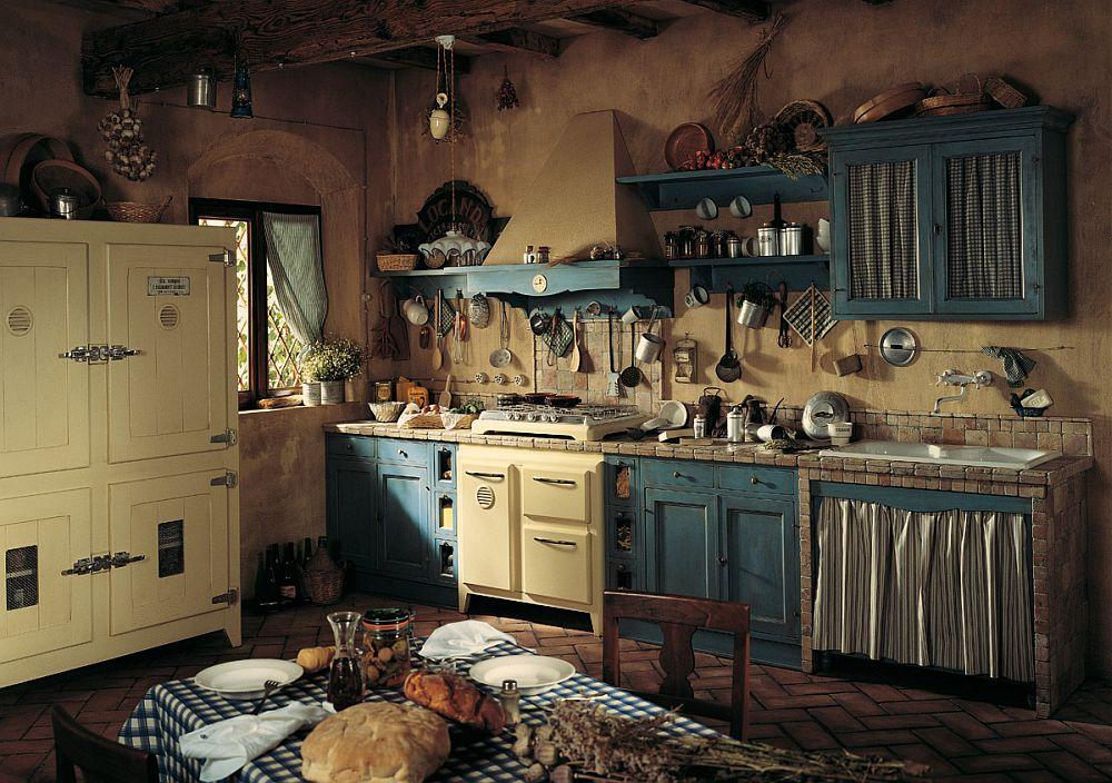 adelaparvu.com despre bucatarii rustice, bucatarii country style, model Doria, Marchi Cucine (4)