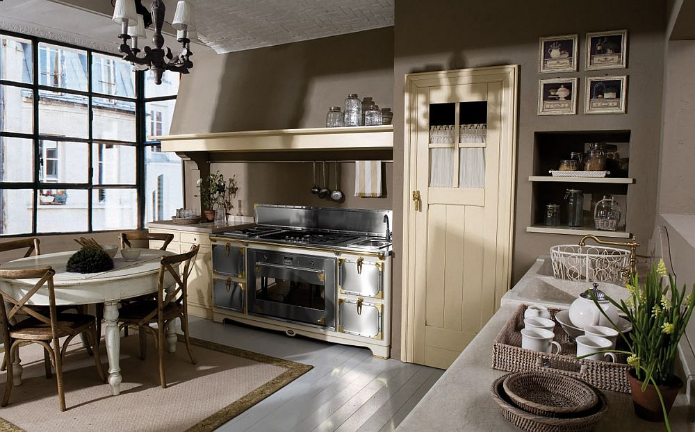 adelaparvu.com despre bucatarii rustice, bucatarii country style, model Doria, Marchi Cucine (5)