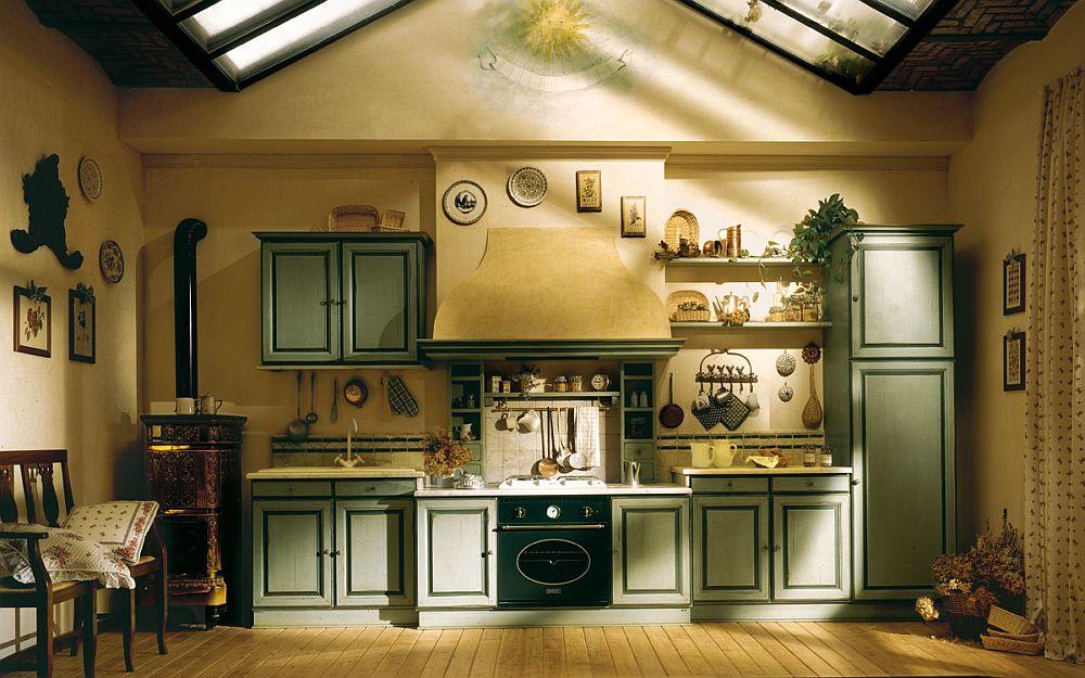 adelaparvu.com despre bucatarii rustice, bucatarii country style, model Granduca, Marchi Cucine (1)