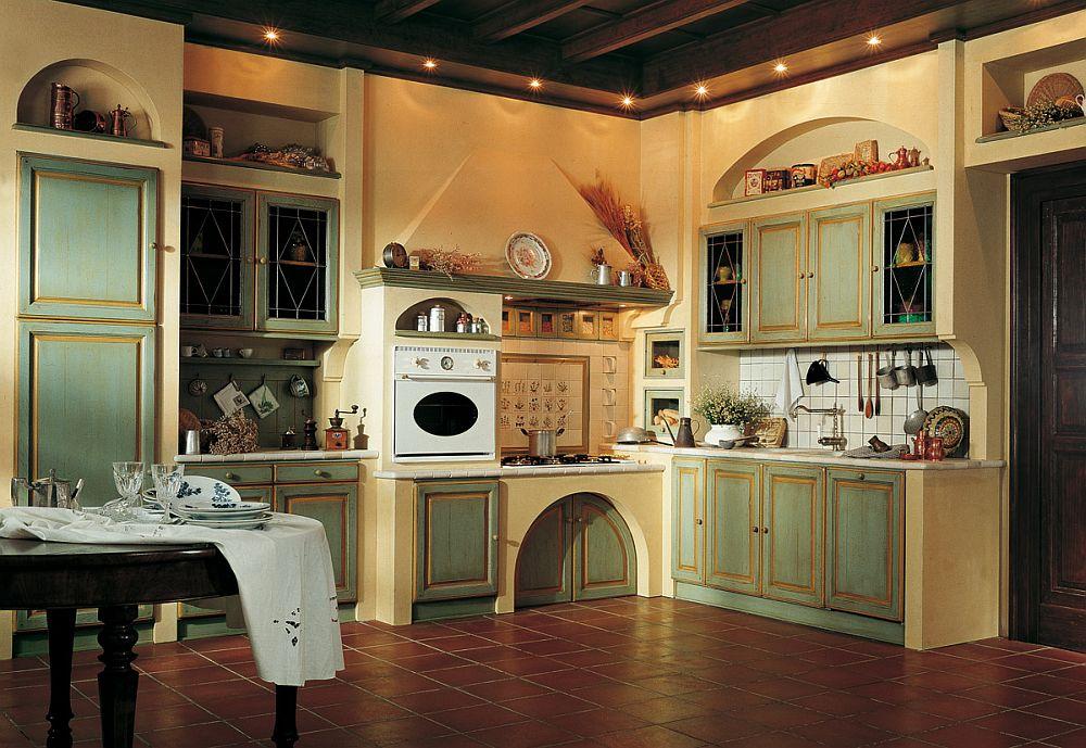 adelaparvu.com despre bucatarii rustice, bucatarii country style, model Granduca, Marchi Cucine (6)