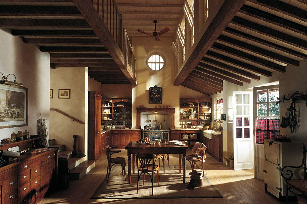 adelaparvu.com despre bucatarii rustice, bucatarii country style, model Hemingway, Marchi Cucine (4)