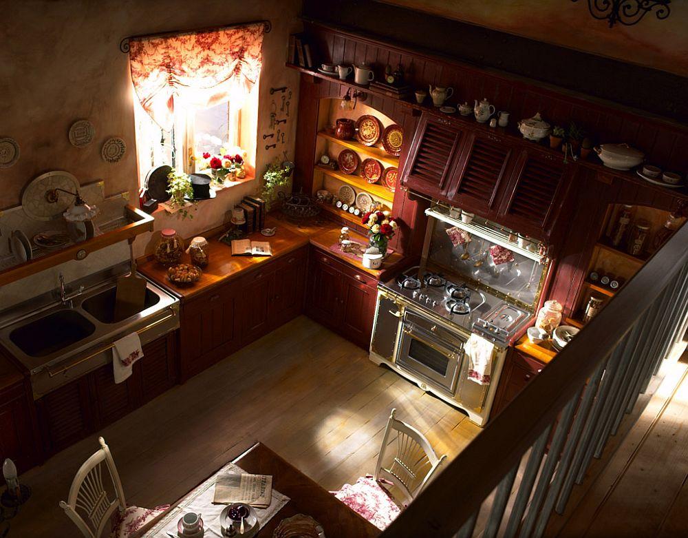 adelaparvu.com despre bucatarii rustice, bucatarii country style, model Incontrada, Marchi Cucine (2)