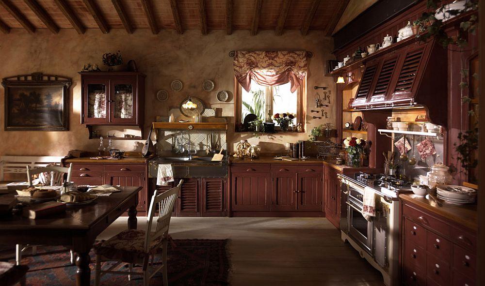 adelaparvu.com despre bucatarii rustice, bucatarii country style, model Incontrada, Marchi Cucine (3)