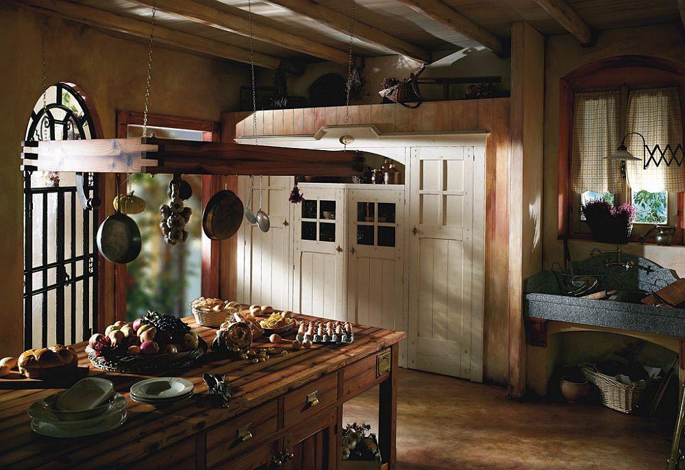 adelaparvu.com despre bucatarii rustice, bucatarii country style, model Incontrada, Marchi Cucine (7)