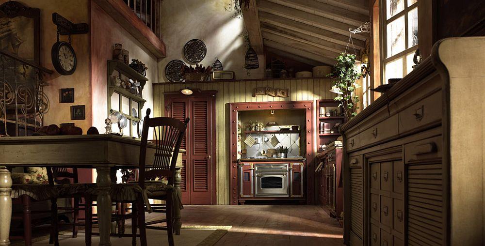 adelaparvu.com despre bucatarii rustice, bucatarii country style, model Incontrada, Marchi Cucine (8)