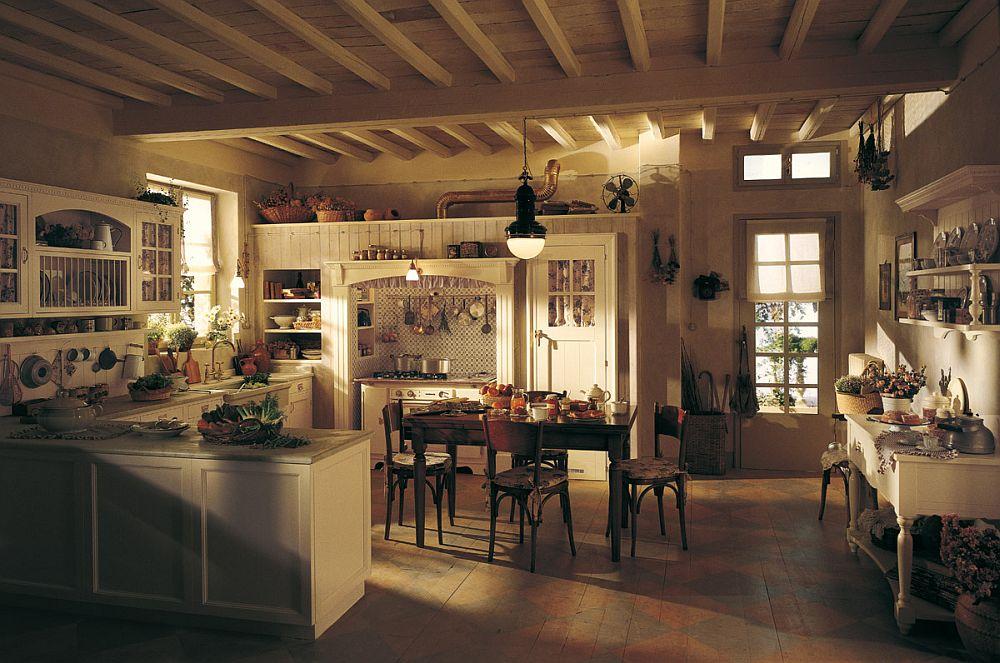 adelaparvu.com despre bucatarii rustice, bucatarii country style, model Old England, Marchi Cucine (1)