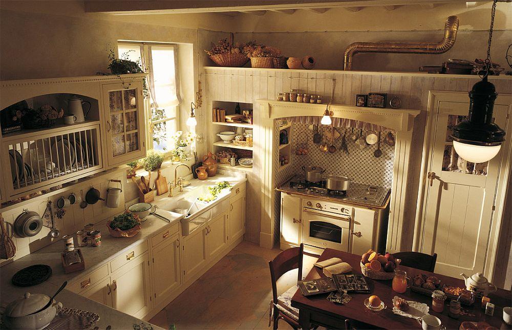 adelaparvu.com despre bucatarii rustice, bucatarii country style, model Old England, Marchi Cucine (2)