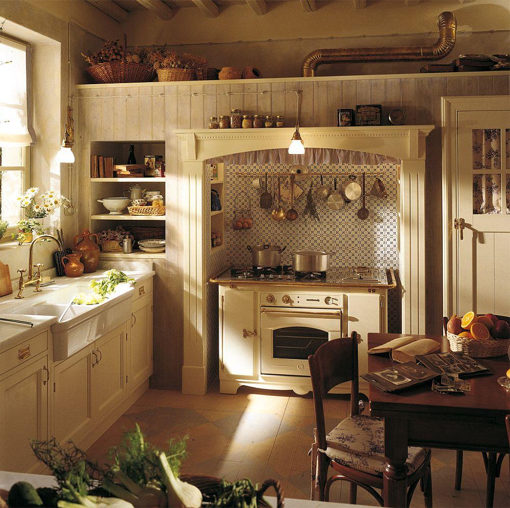 adelaparvu.com despre bucatarii rustice, bucatarii country style, model Old England, Marchi Cucine (3)