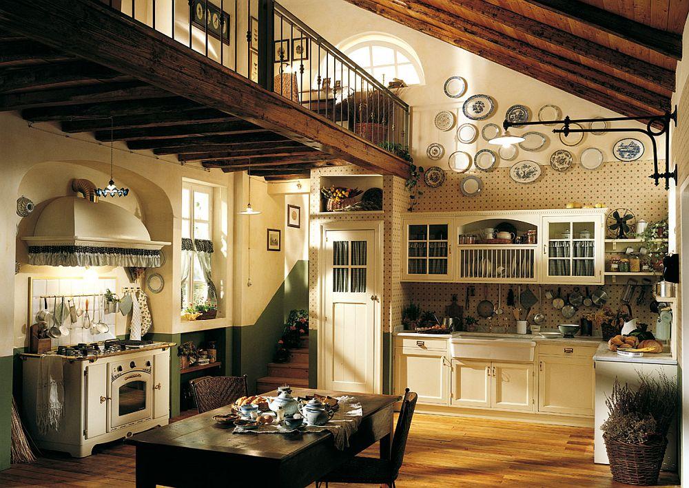 adelaparvu.com despre bucatarii rustice, bucatarii country style, model Old England, Marchi Cucine (5)