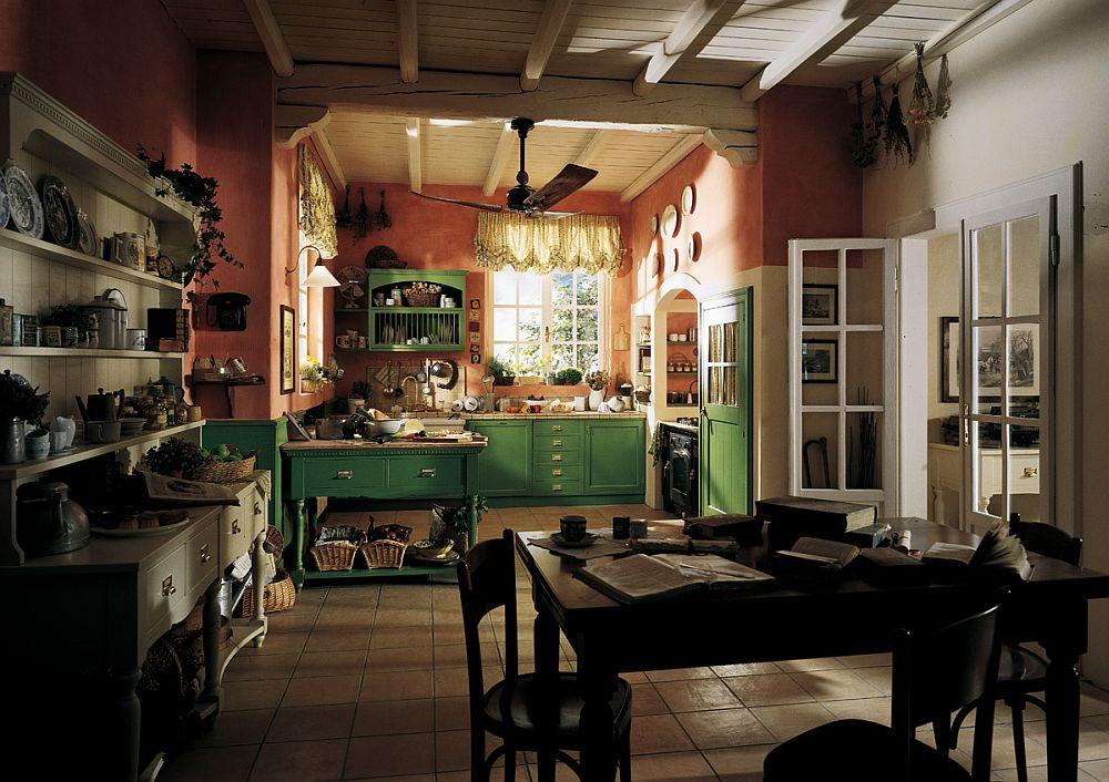 adelaparvu.com despre bucatarii rustice, bucatarii country style, model Old England, Marchi Cucine (6)