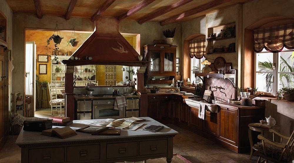 adelaparvu.com despre bucatarii rustice, bucatarii country style, model Valenzuela, Marchi Cucine (3)