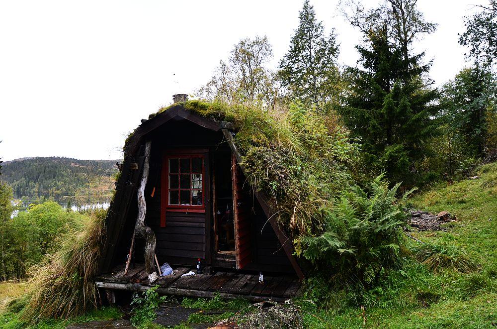 adelaparvu.com despre cabana de munte cu acoperis verde construita de studentii NTNU, cabana Holvasgamma Norvegia (1)