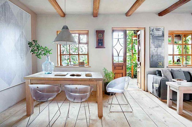 adelaparvu.com despre casa din lemn renovata, Willa Bajka Lanckorona, Polonia, design interior Joa si Arthur Trojanowscy  (11)