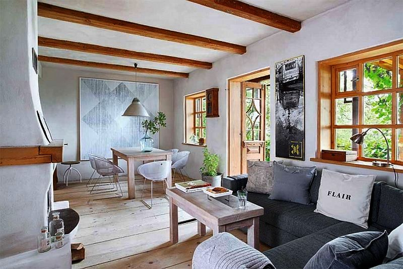 adelaparvu.com despre casa din lemn renovata, Willa Bajka Lanckorona, Polonia, design interior Joa si Arthur Trojanowscy  (9)