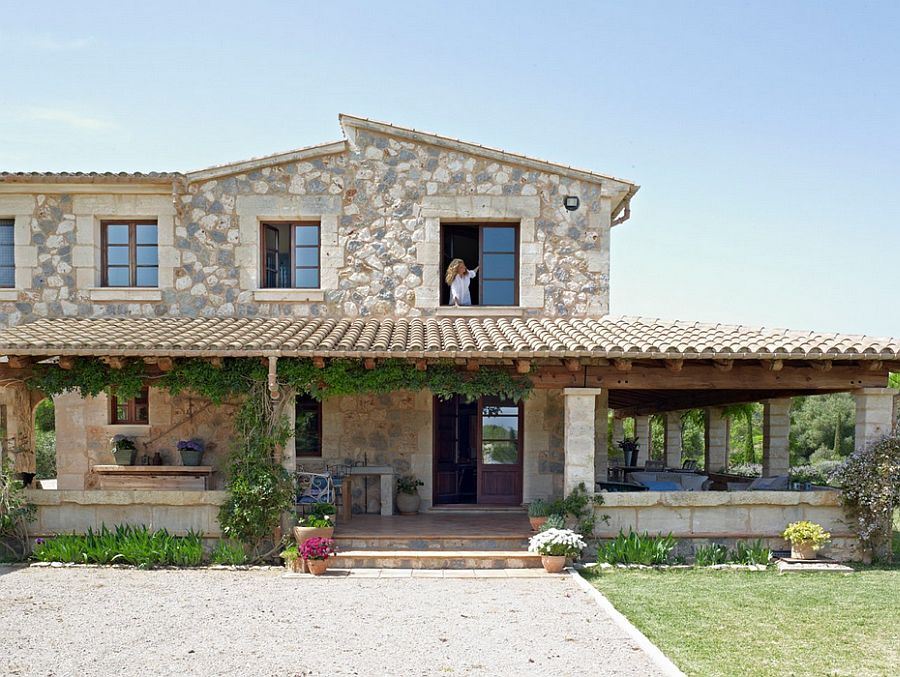 adelaparvu.com despre casa din piatra Spania, casa de vacanta din piatra Mallorca, arhitect Jaume March  (2)