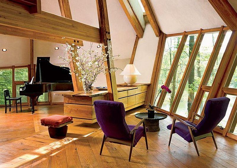adelaparvu.com despre casa in forma de diamant, casa SUA, arhitect Nancy Copley (3)