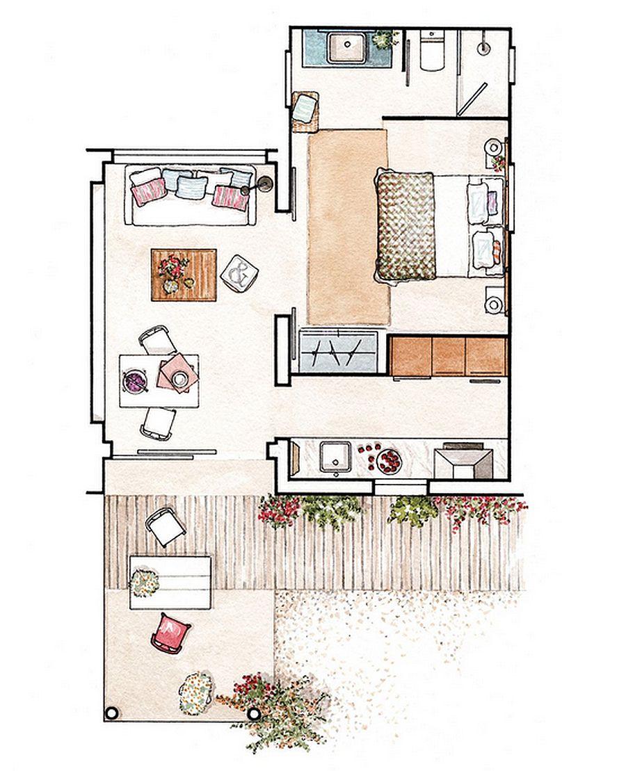 adelaparvu.com despre casa mica 37 mp la mare, casa Formentera, casa Spania, designer Estela Gómez Lupión (11)